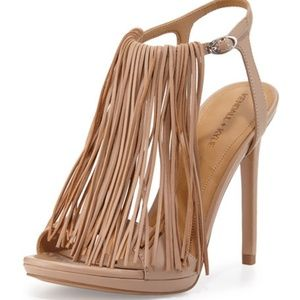 Kendall + Kylie Aries Leather Fringe Sandals NWOT